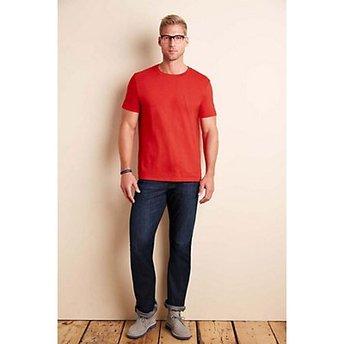 Salgsfremmende Gildan® SoftStyle™ hvit T skjorte med logo