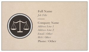 Attorney Business Cards Vistaprint - Lawyer business card template
