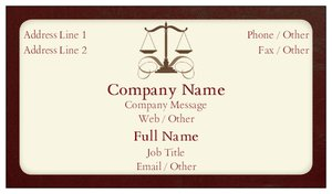 Attorney Business Cards Vistaprint - Attorney business cards templates