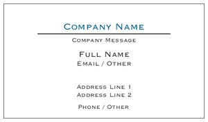 simple business cards conservative - Simple Business Cards