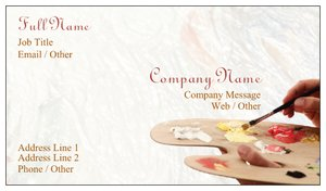 artist business cards painting art