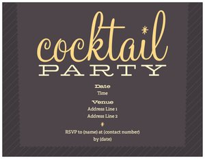 cocktail party invitations dinners cocktails - Cocktail Party Invitation