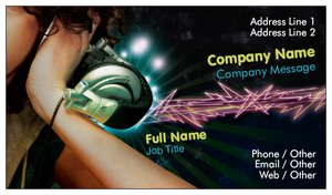 Dj business cards vistaprint dj business cards music reheart Choice Image