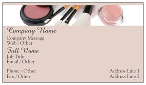Makeup artist business cards vistaprint makeup artist business cards beauty spa flashek Image collections