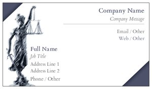 Attorney Business Cards Vistaprint - Lawyer business card templates