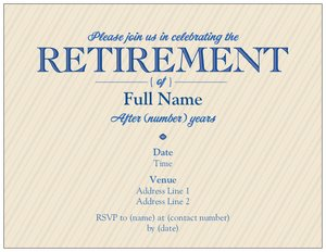 Invitation Card Format For Retirement Party