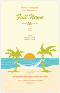 Retirement party invitations vistaprint retirement party invitations retirement stopboris Image collections