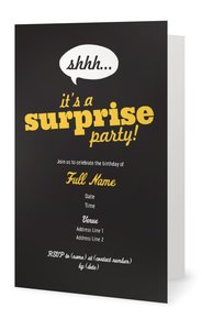 surprise party invitations adult birthday - Surprise Party Invites