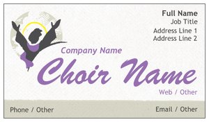 church business cards - Church Business Cards