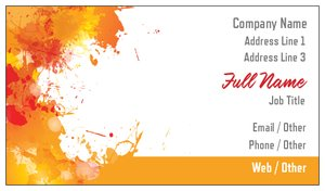 artist business cards bold - Painting Business Cards