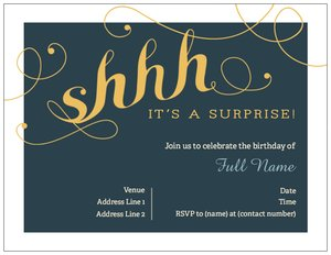 surprise party invitations adult birthday