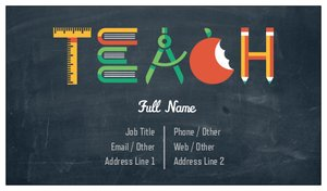 Teacher business cards vistaprint teacher business cards education child care reheart Image collections