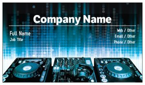 Dj business cards vistaprint dj business cards reheart Image collections