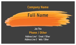 Artist business cards vistaprint artist business cards art entertainment colourmoves