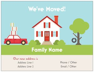 Weve moved announcements vistaprint for Moving home cards template