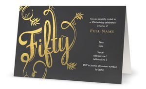 50th anniversary party invitations vistaprint 50th anniversary party invitations adult birthday stopboris Images