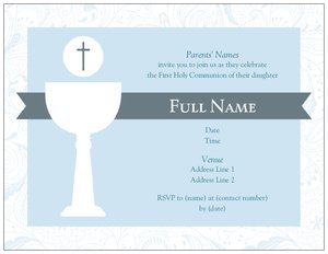 first communion party invitations vistaprint