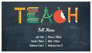 Substitute Teacher Business Card Ideas Vistaprint - Teacher business card template