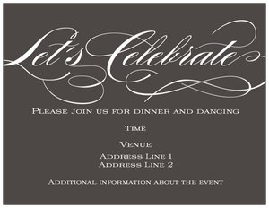 Reception Only Invitations - Vistaprint