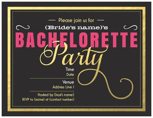 cheap bachelorette party invitations bachelorette bachelor parties - Cheap Bachelorette Party Invitations