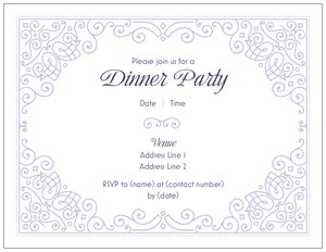 Formal invitations vistaprint formal invitations dinners cocktails stopboris Image collections