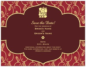 indian wedding invitation cards save the date - Indian Wedding Invitation Cards
