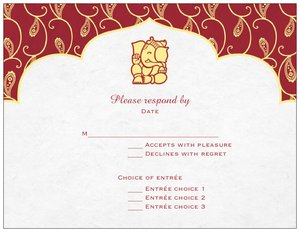 Indian Wedding Invitation Cards Rsvp