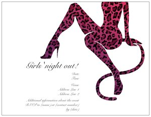 Leopard print invitations vistaprint leopard print invitations bachelorette bachelor parties maxwellsz