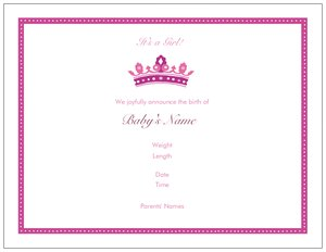 Princess invitations vistaprint princess invitations birth announcements filmwisefo