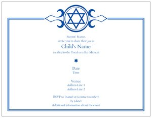 bar mitzvah invitations discount vistaprint