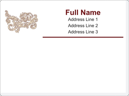 White Fancy Large Mailing Labels Ornate White Large Mailing – Large Mailing Labels
