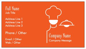 Catering business cards vistaprint catering business cards food beverage reheart Images