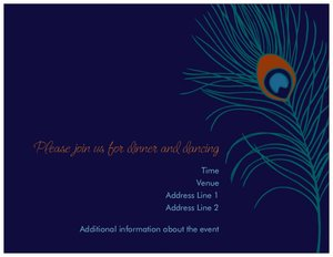 peacock wedding invitations