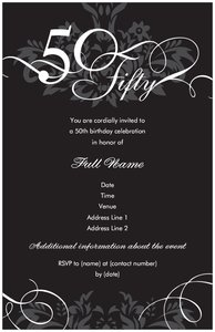 50th birthday party invitations vistaprint 50th birthday party invitations birthday filmwisefo