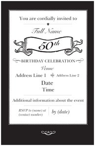 50th birthday party invitations vistaprint 50th birthday party invitations filmwisefo Gallery