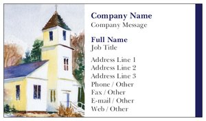 church business cards religious spiritual - Church Business Cards