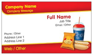 business cards fast shipping food beverage - Fast Business Cards