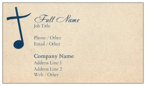 church business cards music - Church Business Cards