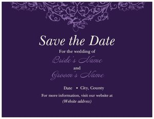 purple wedding invitations vistaprint With purple wedding invitations vistaprint