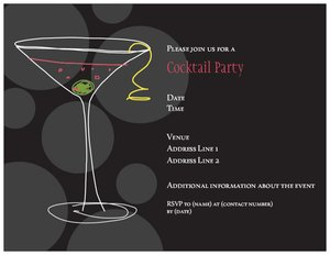 cocktail party invite template - cocktail party invitations vistaprint