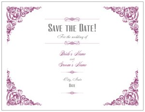 Vistaprint save the date in Perth