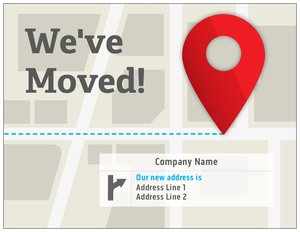 we have moved cards templates - new address postcards vistaprint