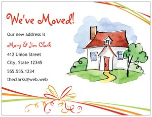 Weve moved cards vistaprint for Moving home cards template